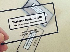 WE ♥ THIS!  ----------------------------- Original Pin Caption: Personal Business Cards: