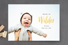 Simple Hello Birth Announcements by Olivia Raufman at minted.com