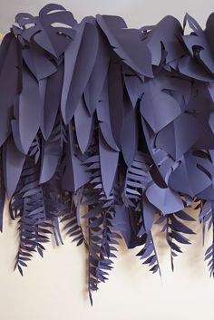 Blue Paper Plants | Decoration at the Arper Bardi Bowl Chair Launch at Spotti Milano | StudioPepe @ SilviaRivoltella  Designer unknown