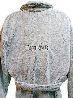 Peignoir polaire personnalisé Mon Chéri par Brodeway.com #peignoirpolaire #personnalisé Sweaters, Fashion, Moda, Fashion Styles, Fasion, Sweater, Sweatshirts