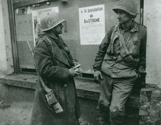 Two soldiers of 110th in Bastogne.