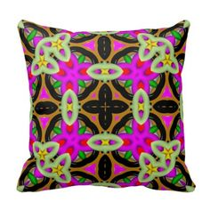 Colorful abstract pattern throw pillow - tap, personalize, buy right now!