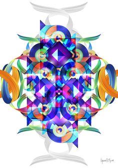 Virtual Art, Visionary Art, Psychedelic Art, Paper Art, Print Design, Art Gallery, German, Contemporary, Art Prints
