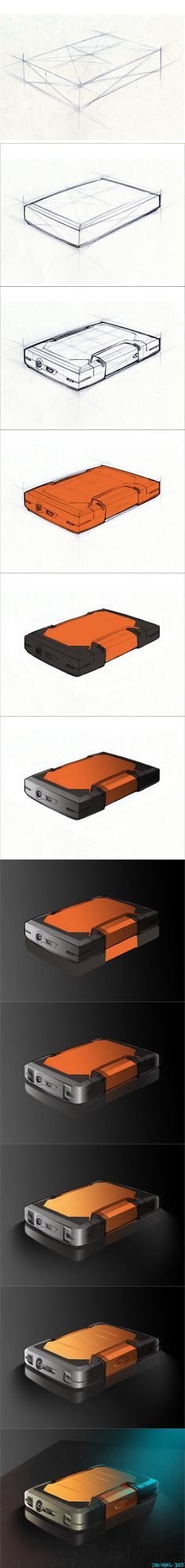 Photoshop Rendering Tutorial: LaCie External Drive by dou-hong