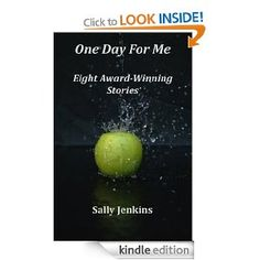 """""""One Day for Me"""" is a book of short stories by award-winning author Sally Jenkins. With eight short stories, this collection runs the gamut from a very surprising and unexpected murderer, to the stressful disclosure to her sister that a woman's boyfriend doesn't really exist. Between those two very different tales are 6 more short stories, each with some kind of unforeseeable twist at the end, serving to make each story that much more entertaining. Although differen"""