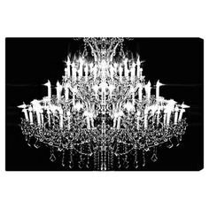 Canvas print with a chandelier motif. Made in the USA by The Oliver Gal Artist Co.   Product: Wall artConstruction M...