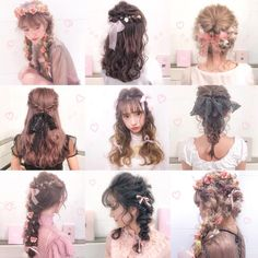 Pin by Zybonic Nun on All about Hair in 2019 Kawaii Hairstyles, Pretty Hairstyles, Wig Hairstyles, Pelo Ulzzang, Hair Inspo, Hair Inspiration, Coiffure Hair, Lolita Hair, Hair Arrange