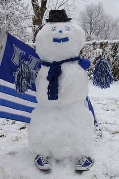 We witnessed our first snowfall of the season last week, but there are likely more to come! Why not use the snow to show your UK pride?!