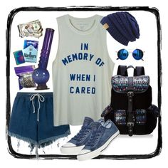 """In memory of when i cared ~"" by milluskah ❤ liked on Polyvore featuring Chicnova Fashion, Chloé, INC International Concepts, Converse, Wild Pair and Zippo"