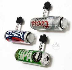 Beer can Track lighting fixture. 10 Track lights with track. Aluminum beer can Spot light. Track Lighting Fixtures, Strip Lighting, Light Fixtures, 27 Life Hacks, Ceiling Canopy, Ceiling Lights, Man Cave Home Bar, Wine And Liquor, Electrical Components