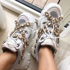 7896b9b048 Gucci Sneaker With Removable Crystals