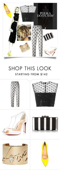 """Polka Dots...."" by twisted1beauty ❤ liked on Polyvore featuring Olsen, Alberto Biani, Giamba, Christian Louboutin, BCBGMAXAZRIA, Lanvin and Gianvito Rossi"