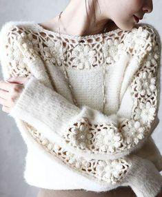 Fabulous Crochet a Little Black Crochet Dress Ideas. Georgeous Crochet a Little Black Crochet Dress Ideas. Crochet Cardigan, Crochet Lace, Tricot D'art, Knitting Patterns, Crochet Patterns, Knit Fashion, Crochet Designs, Crochet Clothes, Knitwear