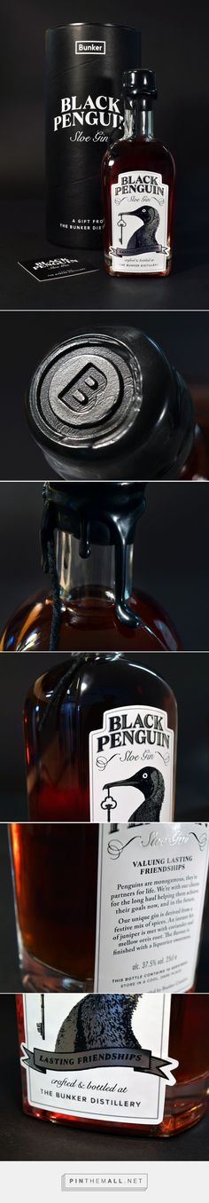 Bunker Creative Sloe Gin - Packaging of the World - Creative Package Design Gallery - http://www.packagingoftheworld.com/2016/12/bunker-creative-sloe-gin.html