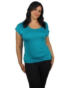 PLUS SIZE ROUND NECK BUTTERFLY SHORT SLEEVE TOP  $15.95