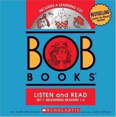 BOB Books Set 1 Bind-up: Books #1-4 + CD by Bobby Lynn Maslen http://www.amazon.com/dp/0545019184/ref=cm_sw_r_pi_dp_aHKFvb1DKMZY5