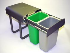 Abfallsammler Aladin Vollauszug Einbau 2 x 8 Liter Mülleimer Küche Bodenmontage in Möbel & Wohnen, Haushalt, Müll- & Abfalleimer   eBay