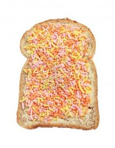 Image detail for -... brown bread with colorful typical Dutch fruit sprinkles. Stock Photo
