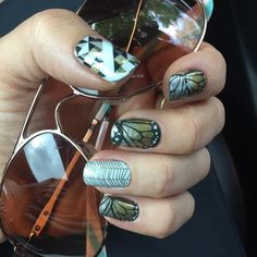 More Fabulous Butterflies!!!  A gorgeous and hip butterfly manicure using Creme…