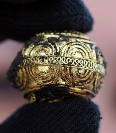 Intricate gold jewelry found in a 2,600 year old Celtic tomb in Germany