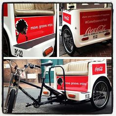 Classic Look for these Pedicabs in NOLA! #Coca-Cola #advertising