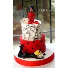 Mucize:Uğur Böceği ve Kara Kedi Çizgifilm Pastası (Miraculous:Ladybug and Cat Noir Cake) ❤️❤️❤️❤️❤️ - sihirlipastane
