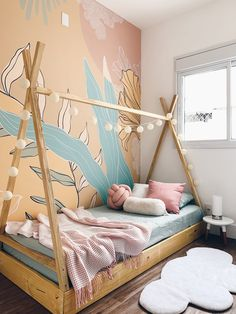 The fourth project of 203 Transforma, our renovation series with Leroy Merlin, is the bedroom of a s Cute Bedroom Decor, Baby Bedroom, Baby Room Decor, Kids Bedroom, My Room, Dorm Room, Leroy Merlin, Little Girl Rooms, Fashion Room