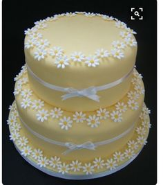 Wedding Decorations Elegant Spring Pretty Cakes Ideas For 2019 Gorgeous Cakes, Pretty Cakes, Cute Cakes, Amazing Cakes, Pretty Birthday Cakes, Gateau Iga, Patisserie Fine, Rodjendanske Torte, Daisy Cakes