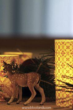 Des animaux et nos photophores en papier italien pour Noël. Bougie Led, Decoration Table, Crafts, Lantern Candle Holders, Christmas Tabletop, Paper, Animaux, Noel, Italy