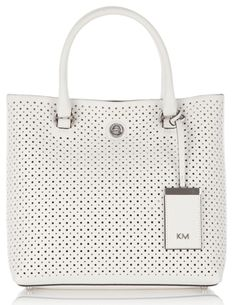 Your Style Lab: Karen Millen white tote bag perforated