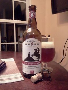 Ommegang Biere D'Hougoumont « Bangers and Mash. Malty and very well crafted.... 7.3 %
