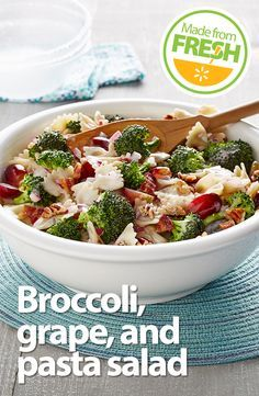 Broccoli, grapes, and bacon are all delicious on their own, but put them together and add tangy mayo and crunchy pecans and you get a fresh summer salad that is surprisingly perfect.