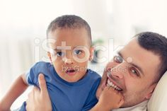 Portrait of father and his little boy. royalty-free stock photo