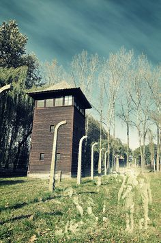 World War II (1938-1944): Auschwitz, the most notorious death camp of the Holocaust.
