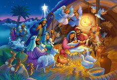 Heavenly Night Kid's Jigsaw Puzzle | Kid's Puzzles | Vermont Christmas Co. VT Holiday Gift Shop