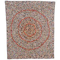 Miniature Hexagons Quilt | circa 1880.  1stdibs.com