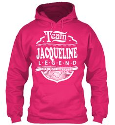 Team Jacqueline Lifetime Member Heliconia Sweatshirt Front