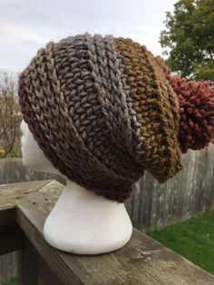 Ginger Spice Hat and Cowl - free super chunky crochet pattern at Rich Textures Crochet.