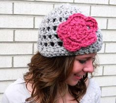 free crochet flower hat pattern