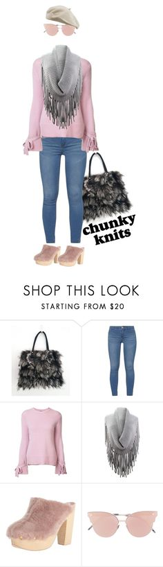 """""""fur, fringe and chunky knits"""" by ilikemike ❤ liked on Polyvore featuring Dorothy Perkins, ADAM, Brother Vellies and So.Ya"""