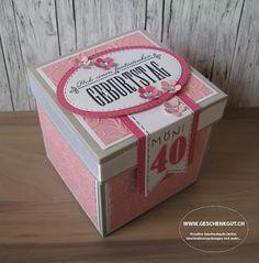 Geschenkbox Explosionsbox Überraschungsbox Wellnessgutschein Massagegutschein