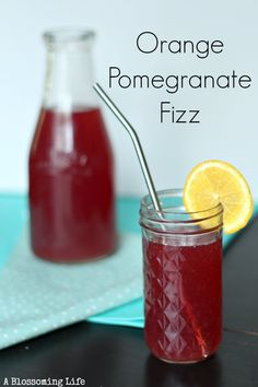This drink is refreshing. Especially when you have been working in the garden all day and need something to quench your thirst. The pomegranate and orange add just a touch of natural sweetness and work together so well. Pomegranates are super healthy, full of antioxidants, and are a good source of potassium, manganese, folate, and vitamin K. #ablossominglife #tastydrinks #homemadesode
