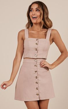 Cut Me Loose Two Piece set in blush
