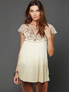 Intricate details... http://www.freepeople.com/clothes-all-tops-tunics/embellished-palms-tunic/