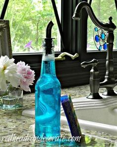 Repurposed Beer Bottle Soap Dispenser!