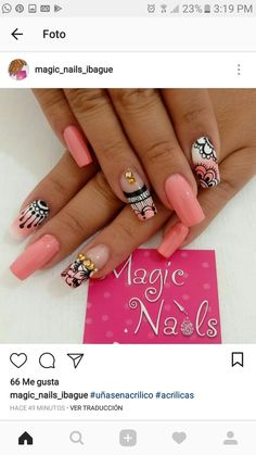 Unhas Fingernail Designs, Nail Polish Designs, Nail Art Designs, Marble Nail Art, Colorful Nail Designs, Hot Nails, Accent Nails, Bling Nails, Manicure And Pedicure