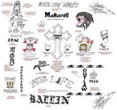 Tupac Amaru Shakur — All of Pac's tattoos