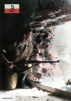 Colorizations By Users - Warsaw Uprising 1944 Warsaw Ghetto, Warsaw Poland, Warsaw Uprising, Art Of Manliness, World War Two, Historical Photos, Wwii, Military, Pictures