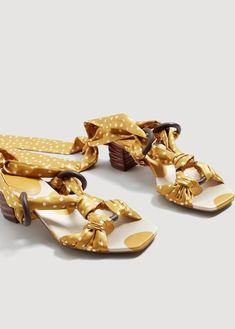 Polka-dot strap sandals