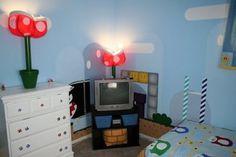 Super Mario Bros Bedroom Video Inspired Decor Link